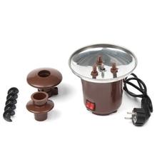 Мини шоколадное фондю, Электрический горшок для фондю из нержавеющей стали машина для плавления шоколада окунание десерт фрукты масло че ЕС вилка