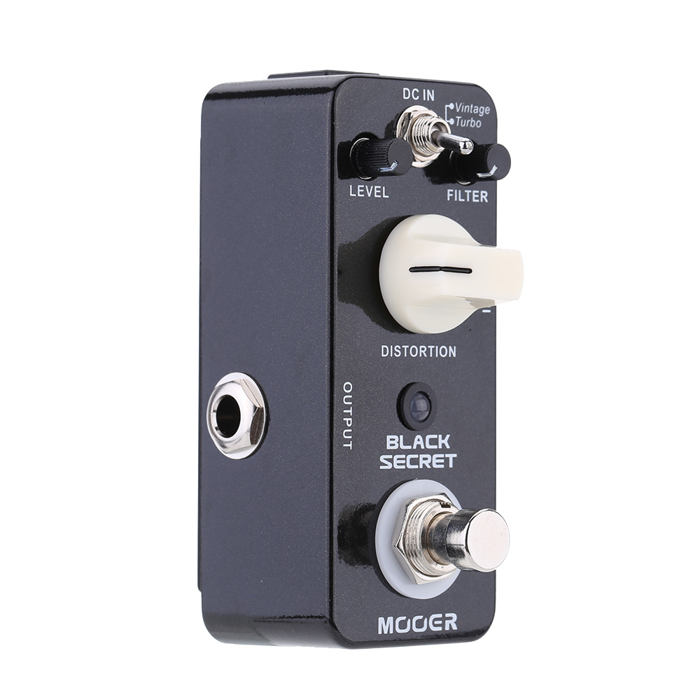 Mooer Black Secret Micro Mini Distortion Electric Guitar Effect Pedal True Bypass Guitar Parts Accessories