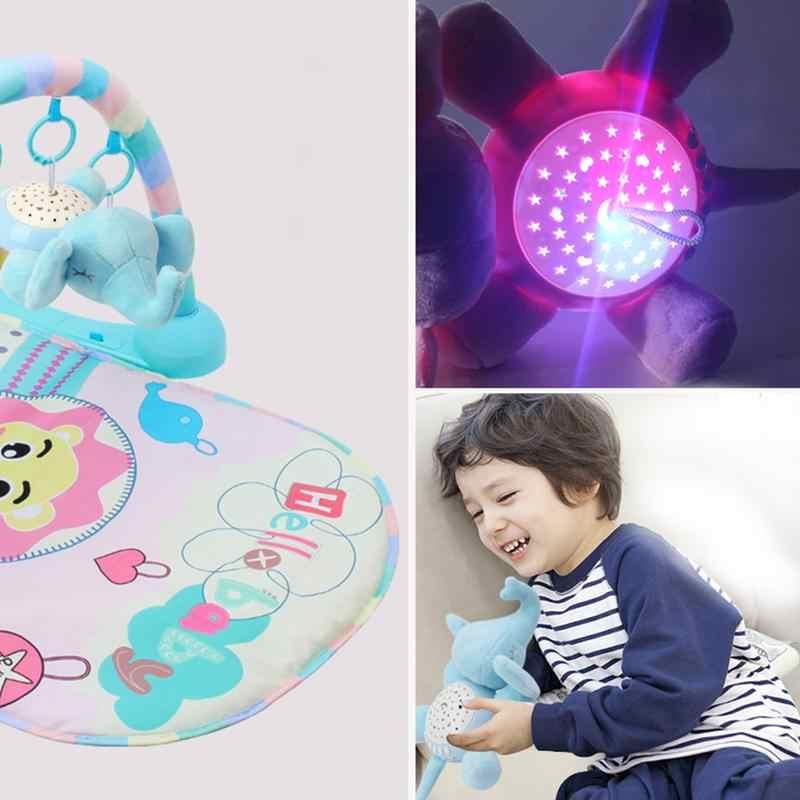 Детский светодиодный светильник для сна, музыка и проектор звезд, свет для детей, чучело слонов, светодиодный ночник, плюшевые игрушки с игрушками, подарок на Рождество