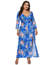 Long Maxi Dresses for Women Plus Size 3 4 Sleeve