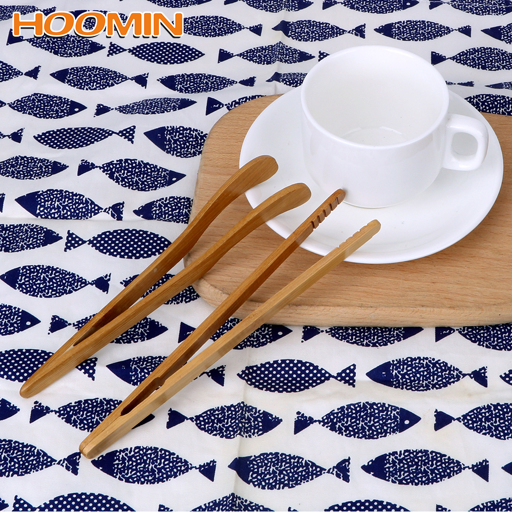 HOOMIN Anti-hot Tea Clip Tongs Holder Tea Tweezer Bamboo Clip Teacup Clamp Handmade Natural Bamboo