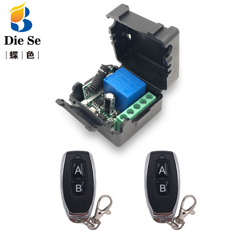 Remote Control 433Mhz DC 12V 1CH rf Switch Relay Receiver and Transmitter for Garage Remote Control and Remote Light Switch image