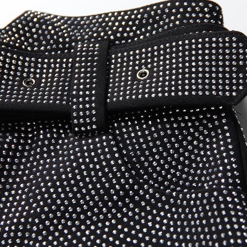 Mujer 2019 Mujeres Alta Picture Primavera Mini Con Faldas Fajas Pesado Twotwinstyle Cintura Moda Elegante Ropa De Diamantes As xnEpvwZSg