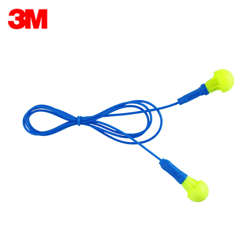 Ear Protector Workplace Safety Supplies 10pairs/lot 3m 318-1005 Ear Protection Push-ins Corded Earplugs Noise Reduction Highest Comfortable Ear Plugs Soundproof Foam Less Expensive