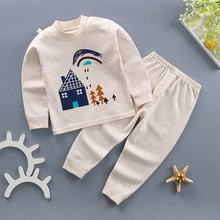 Boys baby clothes childrens color cotton suit autumn long spring and new girls