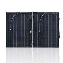 XINPUGUANG 100w 110w(55Wx2pcs) Flexible Foldble Mono Solar Panel For Travel & Boat RV High Quality Portable China