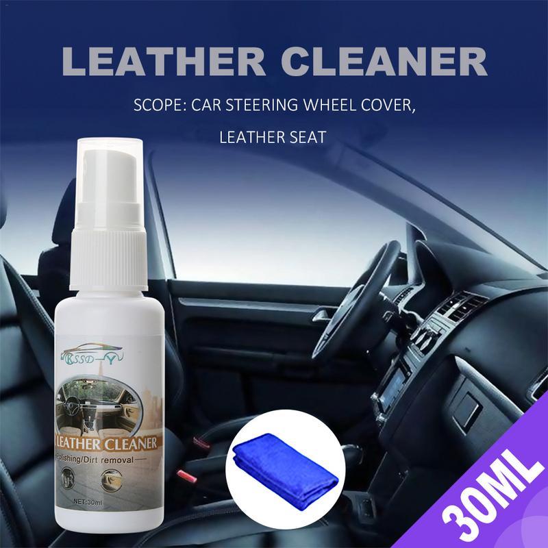 Новый стиль 30 мл автомобильный Безопасный и нетоксичный внутренний очиститель для кожи с полотенцем простой в эксплуатации инструмент для ...