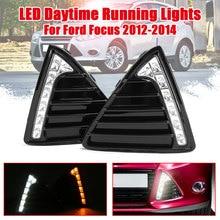 Новый автомобиль мигает пара DRL для Ford Focus 3 2012 2013 2014 габаритные огни налобный противотуманный фонарь крышка дневного света с желтый сигнал