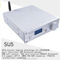 Weiliang SU5 APTX HD Bluetooth 5,0 ES9038Q23 DAC HIFI EXQUIS XMOS USB DSD256 декодер TPA6120 усилитель для наушников с пультом дистанционного управления