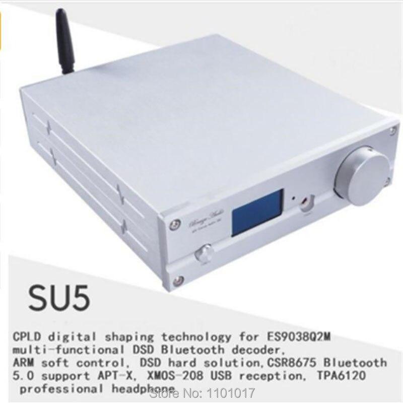 Weiliang SU5 APTX HD Bluetooth 5.0 ES9038Q2M DAC HIFI EXQUIS XMOS USB DSD256 décodeur TPA6120 ampli casque avec télécommande