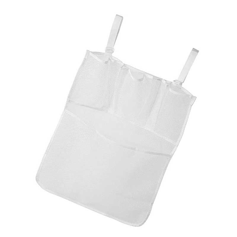 Bolsa de almacenamiento colgante para cama de bebé, bolsa para pañales para cuna, bolsas de acabado multiusos, bolsa de malla transpirable para bebé