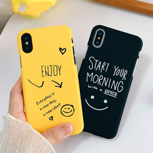 Cartoon Couples Phone Case For Iphone X 6 6s 7 8 Plus Ultra Thin Hard Pc Back Cover Funny Letter Cases Capa