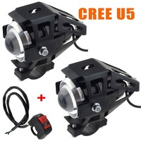 U5 2 pcs 125 w Cree Led Fog Driving Lâmpada Spot Light & Interruptor Do Farol Da Motocicleta|  -