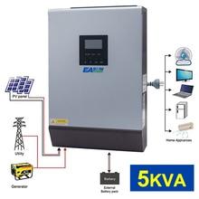 5KVA 4000W солнечный гибридный Инвертор Чистая синусоида 220VAC выход солнечный инвертор Встроенный PWM 48V 50A Солнечный контроллер заряда