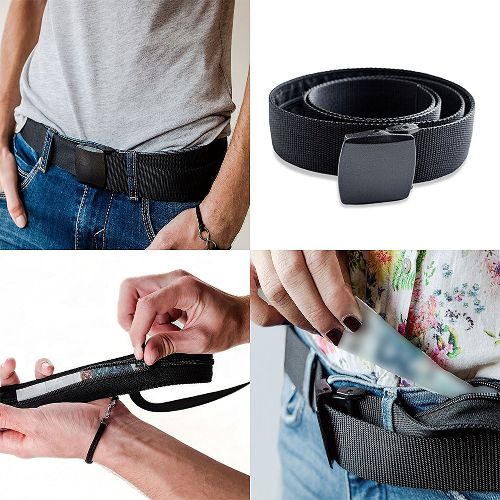 Multi-function Anti Theft Bag Belt Secret Compartment Travel Portable Wallet Stash Hiding Belt Money Bag