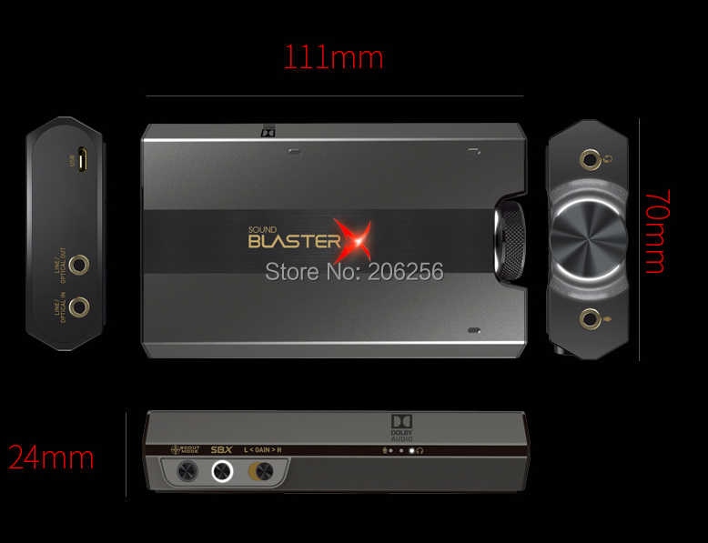 New Creative Sound BlasterX G6 7 1usb external game sound card DAC  Headphone Amplifier For PS4, Xbox One Nintendo Switch and PC
