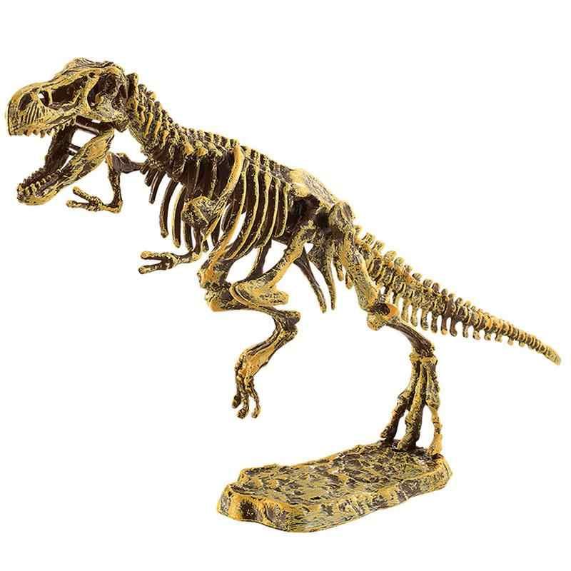 3D Dinosaurio мир динозавр Fossil archelogy тираннозавр рекс Детский Diy собирает горный костюм игрушки для детей