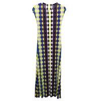 Long pleated print dress summer fashion 2019 women's large loose dress MIYAKE fold dresses free shipping