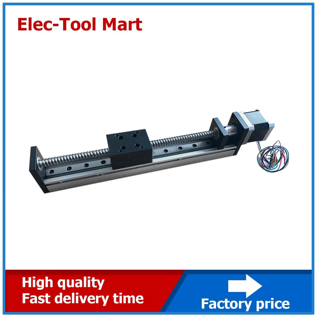 CNC linéaire Guide Rail diapositive scène actionneur vis à billes mouvement Table moteur pas à pas course efficace 50-1500mm