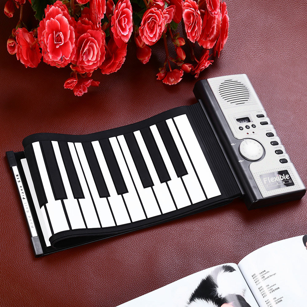 Hot Sale Flexible 61 Keys Silicone MIDI Digital Roll-up Keyboard Piano Portable Electronic Organ InstrumentHot Sale Flexible 61 Keys Silicone MIDI Digital Roll-up Keyboard Piano Portable Electronic Organ Instrument