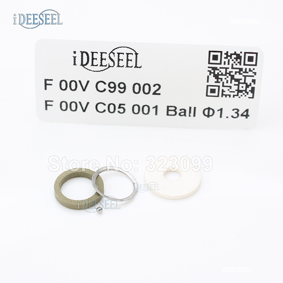 F00VC99002 Common Rail Injector Overhaul Kit F00VC05001 Stell Ball 1 34mm F 00V C99 002 for