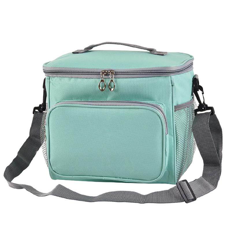 Купить с кэшбэком Lunch Bag Double Insulation Lunch Bag Handbag Solid Thermal Lunchbox Food Picnic Bag For Men Women Portable Cooler Tote for Kids