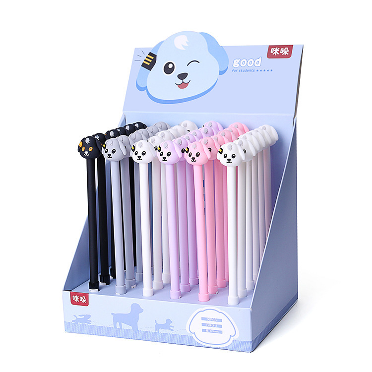 36 Pcs Dog Gel Pens Cartoon Dog Black Ink 0.5mm Kawaii Gift Gel-ink Pens Pens for Writing Cute Stationery Office School Supplies
