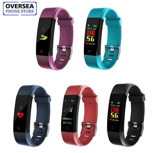 115Plus smart watch 0.96 Inch Color Screen Smart Bracelet Blood Pressure fitness tracker Dynamic Heart Rate Sport Smart Watch