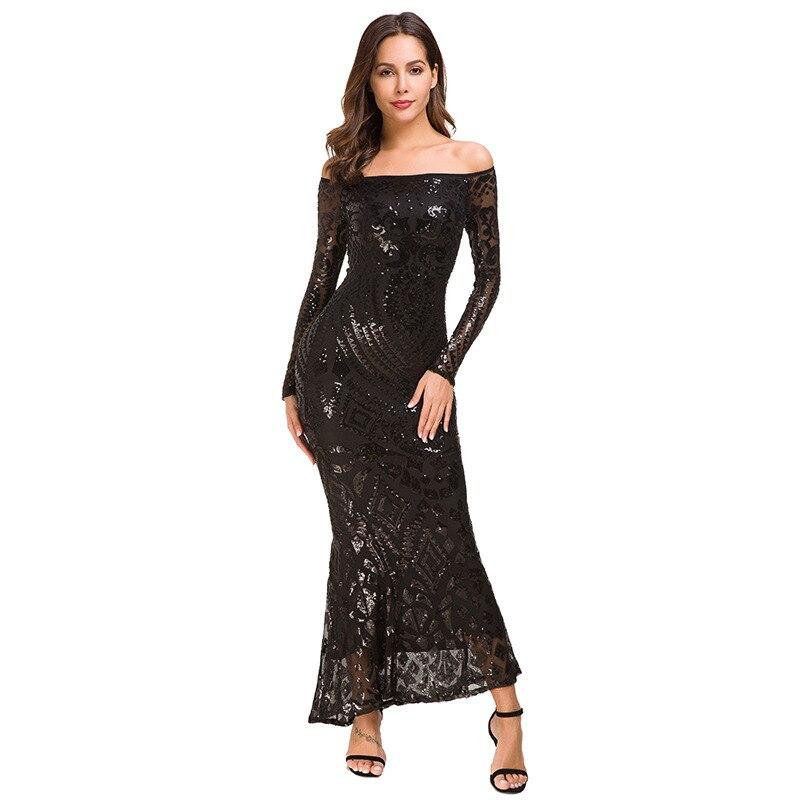 Dos Black Robe Paillettes Femmes Mode Vêtements À Moulante Sexy Noir  Kleider white Nu Longues Manches Parti Sukienka Muxu Robes wtPCTqXwx 8849e100d39