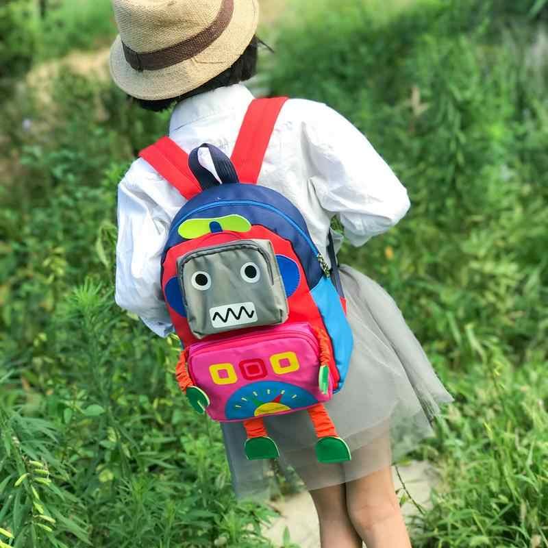 Детский Школьный рюкзак, сумка с рисунком, милый рюкзак для детского сада 1-5 лет, для девочек и мальчиков, дорожные рюкзаки, сумки с роботами
