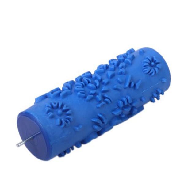 1 Pc 5-zoll Diy Wand Dekoration Farbe Rollen Für Wände Empaistic Blume Muster Malerei Roller (blau) AusgewäHltes Material