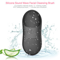 Facial Cleanser Ultrasonic Silicone Face Washing Brushes Pore Cleaner Blackhead Face Cleansing Waterproof Electric Skin Massager