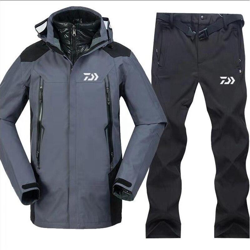 1 Set 2018 Daiwa nouveau plein air hommes pêche vêtements ensembles respirant tenue de sport ensemble randonnée coupe-vent plein air pêche veste et pantalon