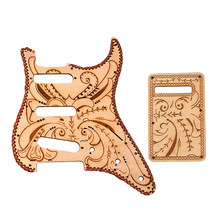 Maple Wood Single Coil Pickguard Pickups and Back Shroud Set for for fender Stratocaster Strat Electric Guitar (GQ301E)(China)
