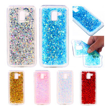 цена на For Samsung J4 2018 J400F Case Colored Shiny Glitter Silicone TPU Skin Phone Cover Protector For Galaxy J4 J400 SM-J400 Case