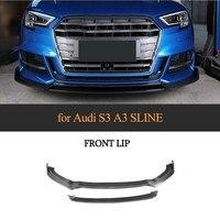 Front Bumper Lips For 2017 Audi A3 And A3 S3 Front Lip Spoiler Carbon Fiber Bumper Cover Lips