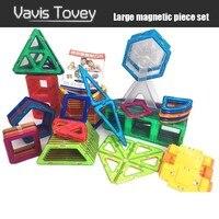 Vavis Tovey 30 200pcs Magnetic Building Blocks Educational Accessory DIY kits Magnet Designer Constructor Toys kids Gifts