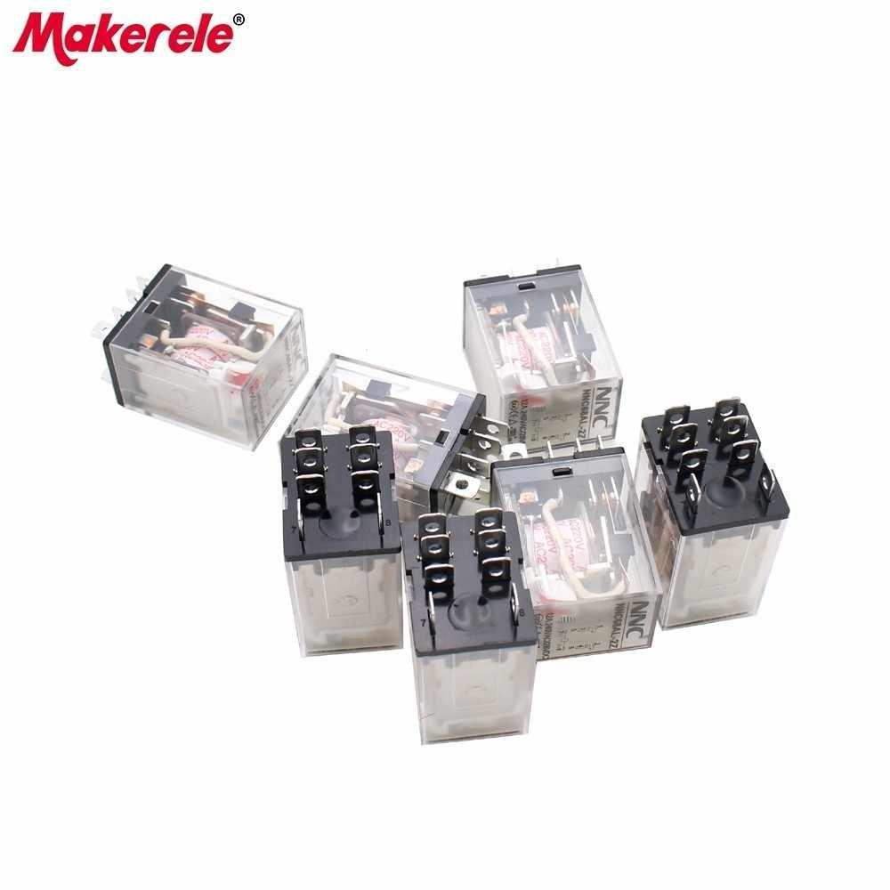 Relais à semi-conducteurs à usage général NNC68AL-2Z Micro-relais électromagnétique électronique 10A 8 broches bobine DPDT DC24V AC220V