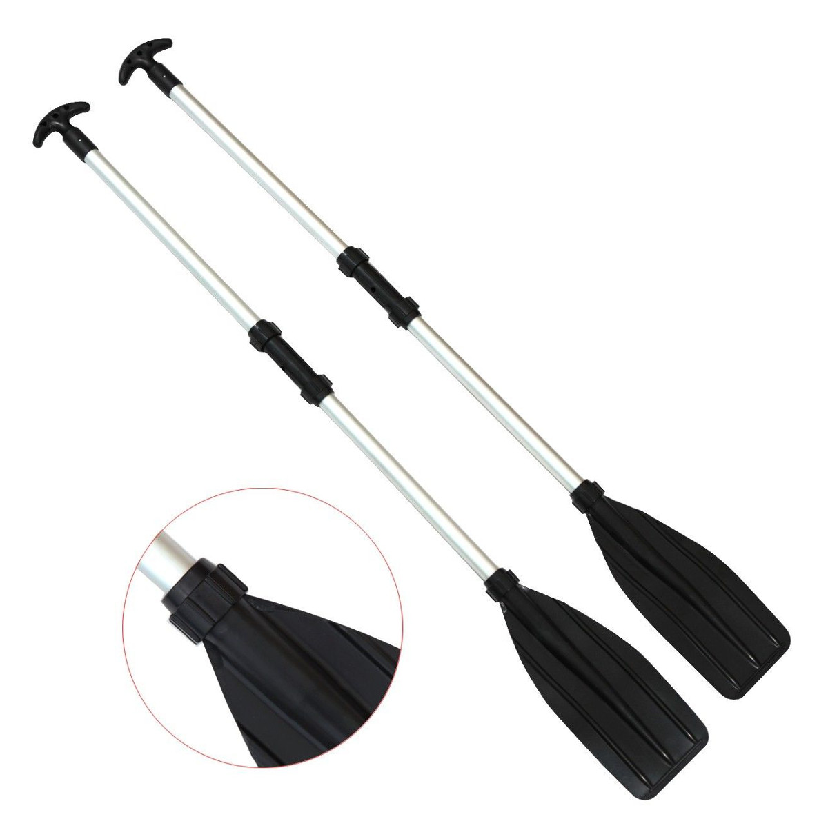 Detachable  Assemble Strengthened Aluminium Boat Oars Paddle Long Oar For PVC Inflatable Boat Fishing  Kayak Canoe Paddle Pad