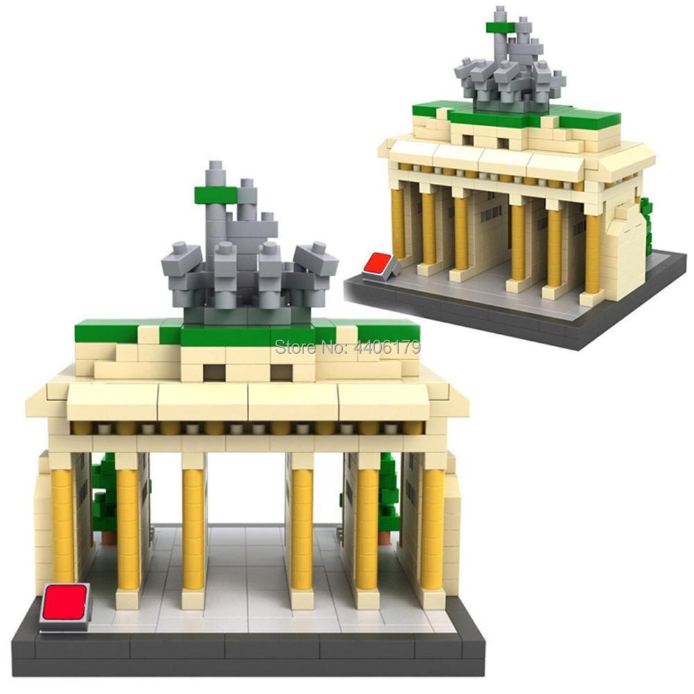 hot LegoINGlys creators city Street view Germany Brandenburg Gate mini Micro Diamond Building Blocks model bricks toys for gifts in Blocks from Toys Hobbies