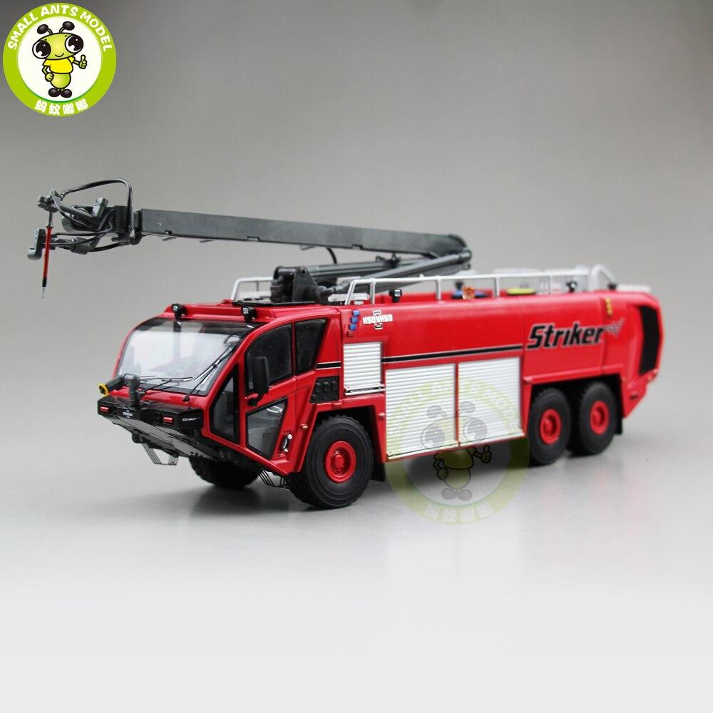 1/50 OSHKOSH Attaquant L'aéroport Feu camion Diecast Modèle Camion De Voiture Jouets pour enfants garçon fille d'anniversaire cadeau rouge