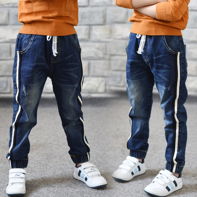 Boy Jeans Children's 13-14-Year Casual Solid for Autumn Fashion Limited Loose Age 12