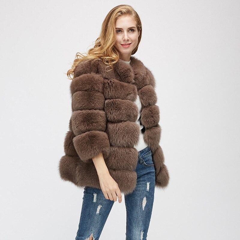 Fourrure Mode Vêtements De Femmes Manteau Camel Nouveau Crinière Renard Artificielle Qualité Lapin Herbe Mince Haute Femelle ardoisé qrEfOw6r