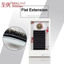 BRILLANT Flat Ellipse Eyelash Extensions Split Tips 0.15/0.20 Shaped Natural False Eyelashes Easy Pick Volume Fan Thick