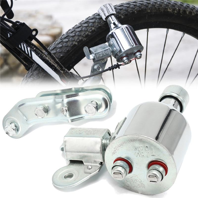 Bicycle Motorized Bike Friction generator Dynamo Head Tail Light Kit 12V 6W