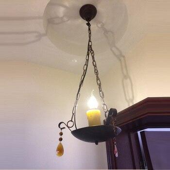Estilo mediterráneo porche barra de la lámpara pasillo colgando luces balcón colgante vintage lámpara restaurante colgante Luz de cocina Accesorios