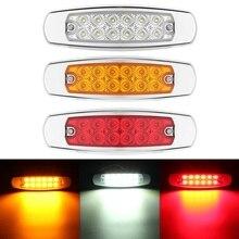 Светодиодный светильник с боковым зазором Желтый Красный Белый 12 Светодиодный светильник для прицепа грузовика s для Peterbilt 24V