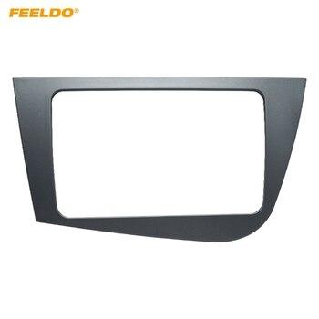 FEELDO gris coche 2 Din Audio Radio Fascia marco para asiento León 2005-2011 mano izquierda conducción LHD Dash kit de montaje en Panel de placa # FD5818
