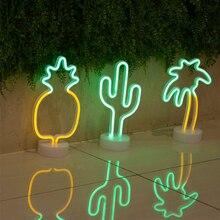 Lampa neonowa LED kaktus i inne wzory