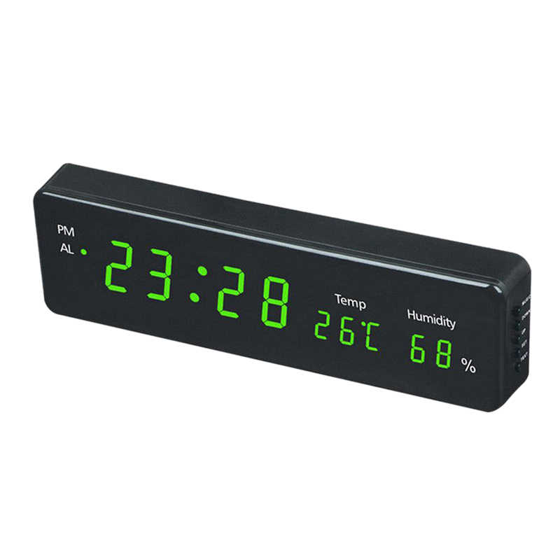 VST Electronic Led Digital Wall Clock With Temperature Humidity Display Home Clocks European Plug